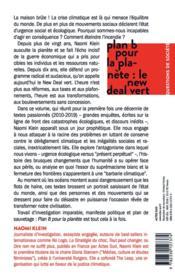 Plan B pour la planète : le new deal vert - 4ème de couverture - Format classique