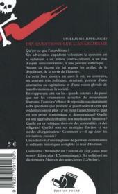 Dix questions sur l'anarchisme - 4ème de couverture - Format classique