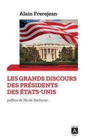 Les grands discours des présidents des Etats-Unis - Couverture - Format classique