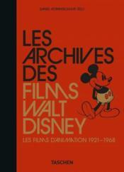 Les archives des films Walt Disney ; les films d'animation - Couverture - Format classique