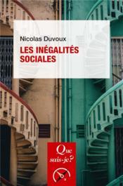 Les inégalites sociales - Couverture - Format classique