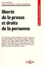 Liberte de la presse et droits de la personne - Couverture - Format classique