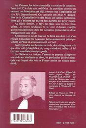 Lexique Juridique Et Administratif Francais Vietnamien - 4ème de couverture - Format classique