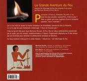 La grande aventure du feu - 4ème de couverture - Format classique