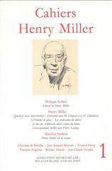 Cahiers henry miller n 1 - Couverture - Format classique