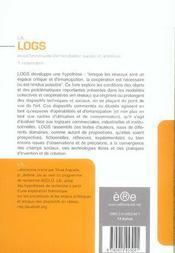 Logs - 4ème de couverture - Format classique