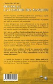 Rousseau, la comédie des masques - 4ème de couverture - Format classique