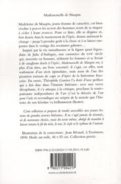 Mademoiselle de Maupin - 4ème de couverture - Format classique