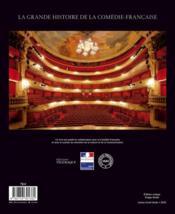 La grande histoire de la comédie française - 4ème de couverture - Format classique