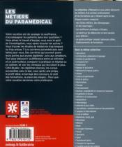 Les métiers du paramédical - 4ème de couverture - Format classique