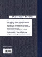 Dans la maison de Manet - 4ème de couverture - Format classique