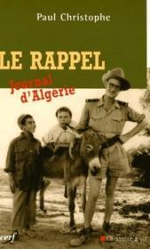 Le rappel ; journal d'Algérie - Couverture - Format classique