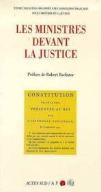 Les ministres devant la justice - Couverture - Format classique