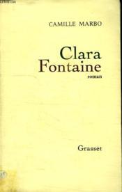 Clara Fontaine. - Couverture - Format classique