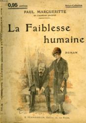 La Faiblesse Humaine. Collection : Select Collection N° 101 - Couverture - Format classique