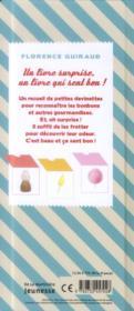 Bonbons ; ca sent bon la barbapapa, le caramel... et compagnie. les odeurs - 4ème de couverture - Format classique