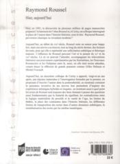 Raymond Roussel - 4ème de couverture - Format classique