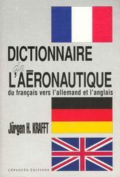 Dictionnaire de l'aeronautique - Intérieur - Format classique