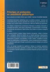 Principes et protocoles en anésthesie pédiatrique (3e édition) - 4ème de couverture - Format classique
