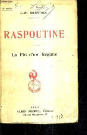 Raspoutine - La Fin D'Un Regime. - Couverture - Format classique