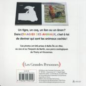 Imagier des animaux - 4ème de couverture - Format classique