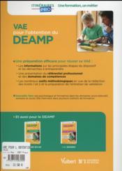 VAE pour l'obtention du DEAMP (3e édition) - 4ème de couverture - Format classique