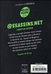 @ssassins.net - 4ème de couverture - Format classique