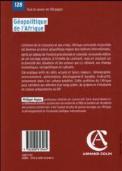 Géopolitique de l'Afrique (4e édition) - 4ème de couverture - Format classique