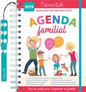 Agenda familial Mémoniak 2018-2019 - Couverture - Format classique