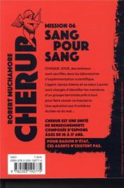 Cherub mission T.6 ; sang pour sang - 4ème de couverture - Format classique
