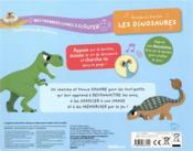 Mes premiers livres à écouter ; écoute et cherche les dinosaures - 4ème de couverture - Format classique