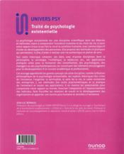 Traité de la psychologie existentielle ; concepts, méthodes et pratiques - 4ème de couverture - Format classique