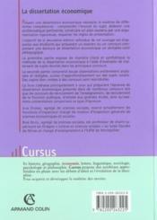 Dissertation Economique ; 2e Edition - Couverture - Format classique