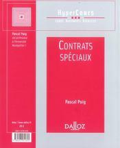Contrats Speciaux - 4ème de couverture - Format classique