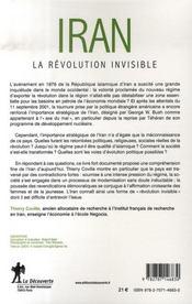 Iran, la révolution invisible - 4ème de couverture - Format classique