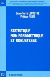 Statistique non parametrique et robustesse - Couverture - Format classique