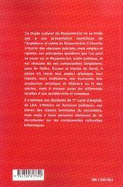 Guide Culturel Du Royaume-Uni - 4ème de couverture - Format classique