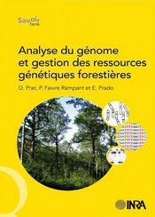 Analyse du génome et gestion des ressources genetiques forestières - Couverture - Format classique