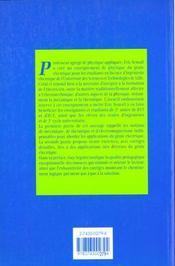 Physique du genie electrique - 4ème de couverture - Format classique