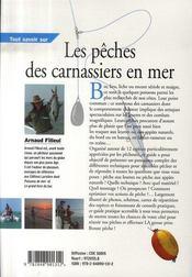Tout savoir sur les pêches des carnassiers en mer - 4ème de couverture - Format classique