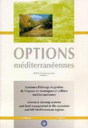 Systemes d'elevage et gestion de l'espace en montagnes et collines mediterraneennes options mediterr - Couverture - Format classique