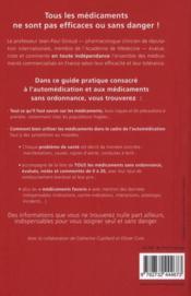 Médicaments sans ordonnance - 4ème de couverture - Format classique
