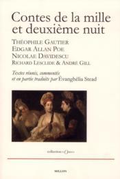 Contes de la mille et deuxième nuit ; Théophile Gautier, Edgar Allan Poe et Nicolae Davidescu - Couverture - Format classique