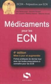 Medicaments Aux Ecn 4e Ed - Couverture - Format classique