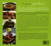 70 recette végétaliennes ; l'assiette éthique et chic - 4ème de couverture - Format classique