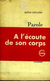 Parole De Femme. - Couverture - Format classique