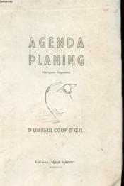 Agenda Planning - D'Un Seul Coup D'Oeul - Couverture - Format classique