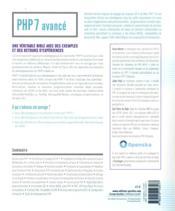 PHP 7 avancé - 4ème de couverture - Format classique