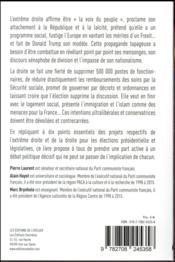 Imposture Le Pen, le danger Fillon (l') ; 20 répliques pour sortir du piège - 4ème de couverture - Format classique