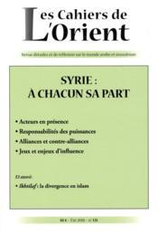 Cahiers de l'Orient N.131 ; Turquie : vers un nouvel emprire ? - Couverture - Format classique